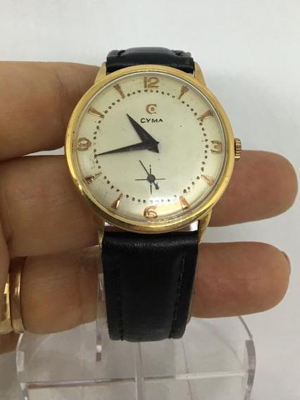 Relógio Nível De Omega Ouro Maciço 18k Marca Cyma À Corda Original Lindíssima Peça P/ Apreciadores - 13 Anos No M. Livre