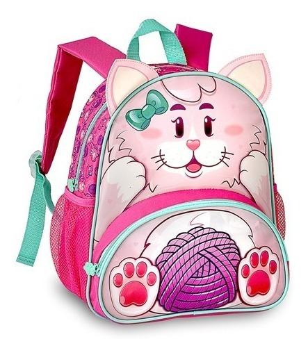 Mochila Infantil Animais Zoo Clio Pets Original - Gatinha
