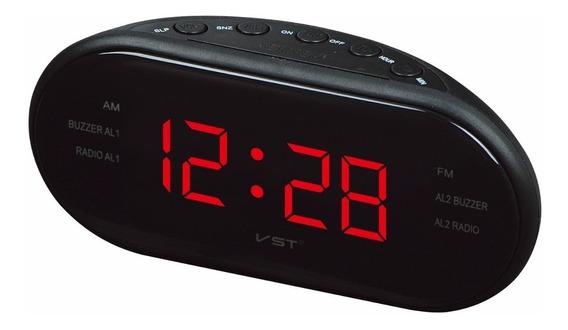 Radio Relógio Elétrico Despertador Digital Mesa Am Fm Bivolt
