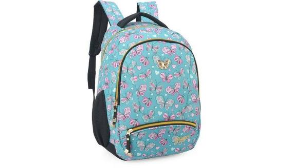 Mochila Laptop Escolar Feminina Infantil Luxcel Mj48535ps