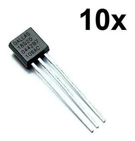 Kit 10 Un- Sensor De Temperatura Ds18b20
