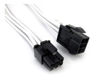 Cable Peinado Aerocool Pci-e 6-pin 45cm White/black