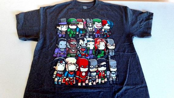 Super Héroes Dc Comics - Playera Oficial Importada