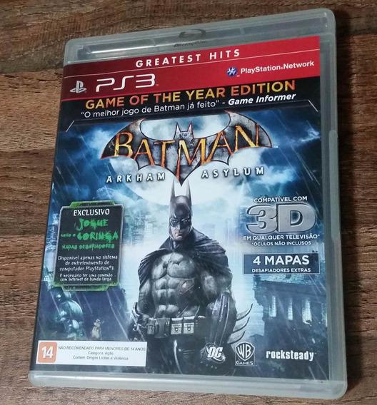 Batman Arkham Asylum Ps3 Midia Fisica