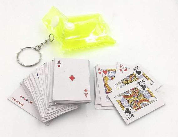 Baraja Mini Llavero Cartas Miniatura Pokr Diversion Portatil