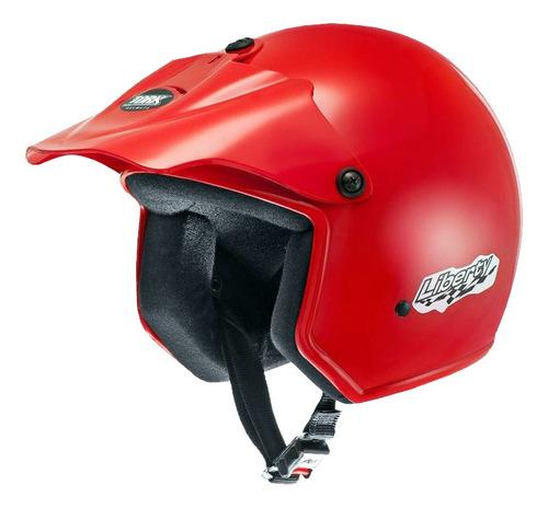 Casco Moto Abierto Protork Liberty Rojo T 60