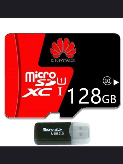 Cartão De Memória 128gb Huawei Free Usb Adaptador Micro