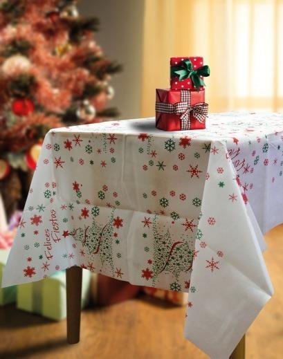 Mantel Navidad Friselina Estampada 180x120 Cm Navideño
