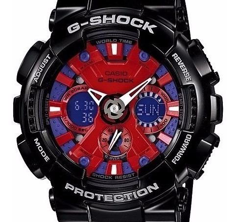 Relógio Casio G-shock Ga-120b-1adr Cronômetro Ga-120 Alarmes