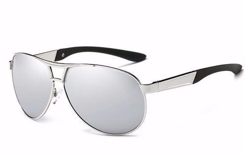 Óculos De Sol Avador Polarizado Uv400 Hdcrafter - Prata§