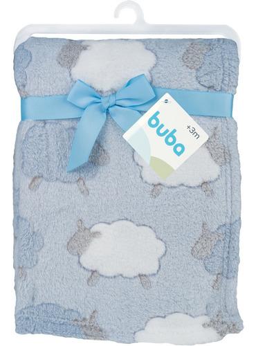 Imagem 1 de 8 de Mantinha Para Bebê Ovelhinha Manta Azul Buba Baby 13230