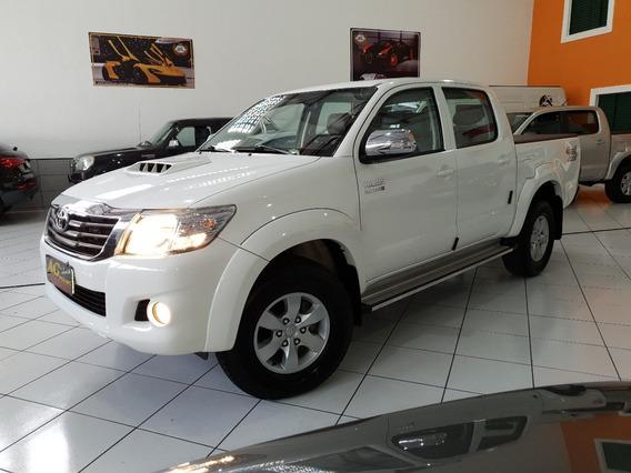 Toyota Hilux Dupla Srv Diesel 2014 Branca Aut 4x4 Top Acess