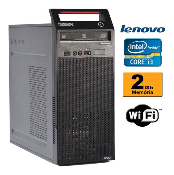 Computador Lenovo 73 Torre Intel Core I3 4ª 2gb Wifi (s/ Hd)