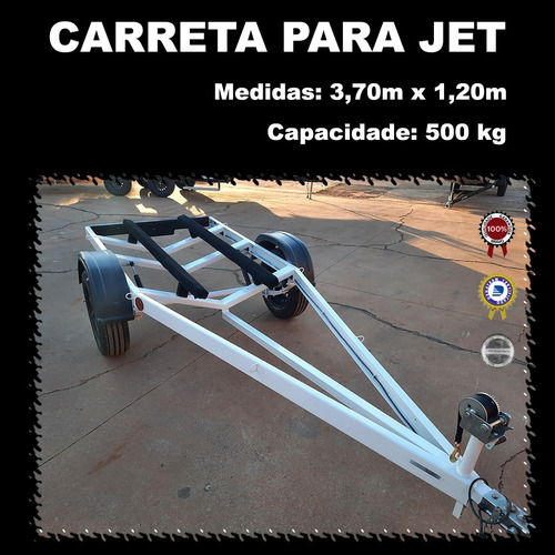 Carreta Reboque P/ Jet Ski - Moto Aquática Zero Km