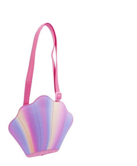 Bolsa Infantil Princesa Pink Concha Gliter - Tamanho Único