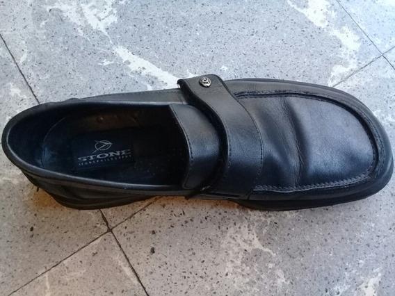 Zapato Vestir Hombre Negro Stone Island Talle 42