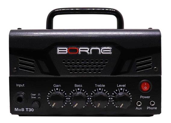 Mini Cabeçote Amplificador Borne Mob T30 30w Chumbo Nf Gtia
