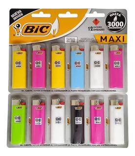 Encendedor Maxi Bic X12 Unidades