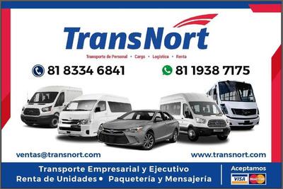 Renta De Autos Y Camiones Tipo Van De 7,8,12,15.19 Pasajeros