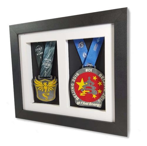 Moldura Porta Medalhas Horizontal 2 Espaços