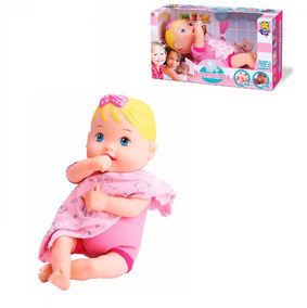 Linda Oneca Baby Nenenzinha Alive Loira - Divertoys