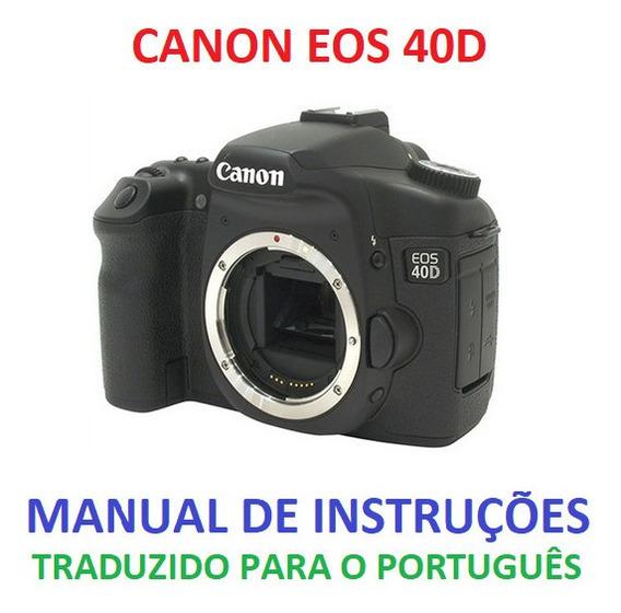 Manual Em Português Canon Eos 40d