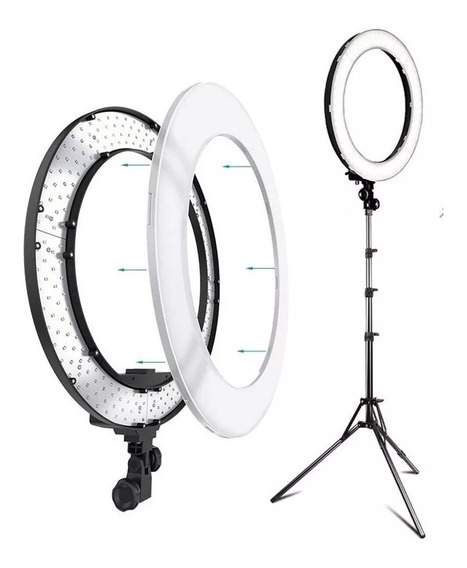 Iluminador Led Ring Light Rl12 35cm 45w Foto Vídeo Tripé I13