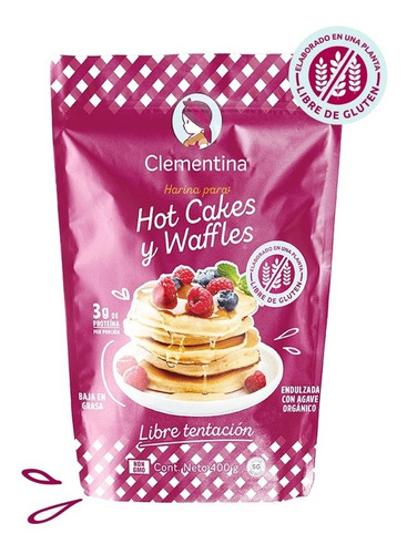 Imagen 1 de 4 de Harina Sin Gluten Para Waffles/hotcakes Clementina