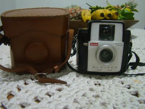 Câmera Kodak Rio 400 Com Case De Couro Original