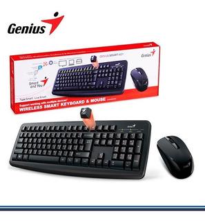 Combo Teclado Y Mouse Genius Smart Km-8100 Inalámbrico Negro