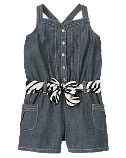 Macacão Jeans Gymboree Menina Importado Zebra