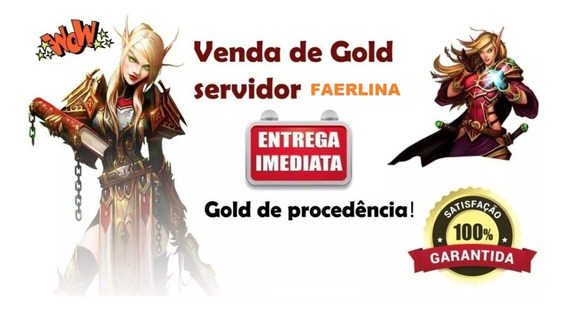 100g Ouro Gold Wow Classic/clássico- Faerlina Horda