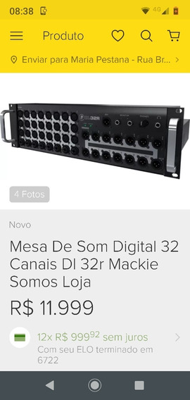 Rack Mackie 32 Canais Estado De Novo No Case