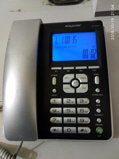 Telefono Fijo Nakazaki Mod. 8028 Con Pantalla