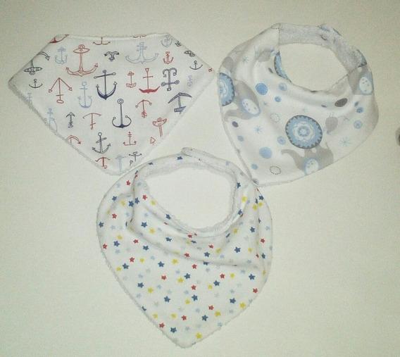 Baberos Bandana Bebé Pack X 3