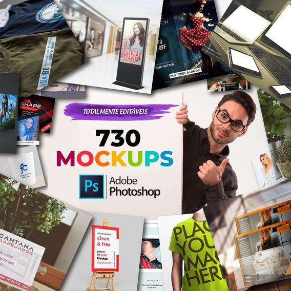 730 Mockups Editáveis (photoshop)