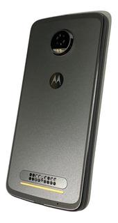 Tampa Carcaça Motorola Z2 Play Platinum Original - Novo