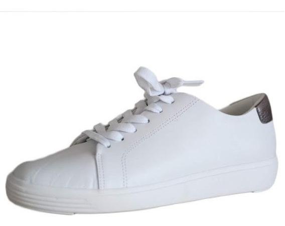 Tênis Em Couro Usaflex Solado Confortável Cor Branco 4201!