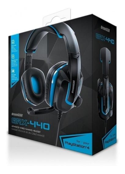 Headset Ps4 Xbox One Dreamgear Grx 440 Azul