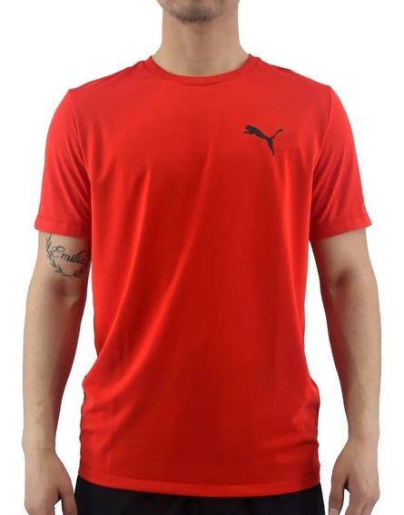 Puma Remera M/c Running Hombre Active Rojo