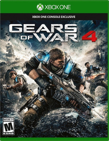 Jogo Gears Of War 4 Xbox One Xone Mídia Física Game Original