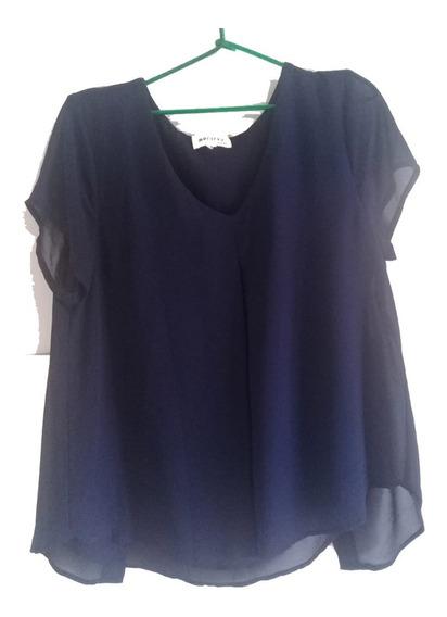 Blusa Feminina Azul Marinho Gola V