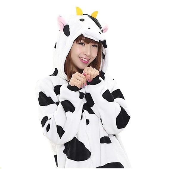Kigurumi Pijama Onesie Mameluc Disfraz Cosplay Vaca Adulto