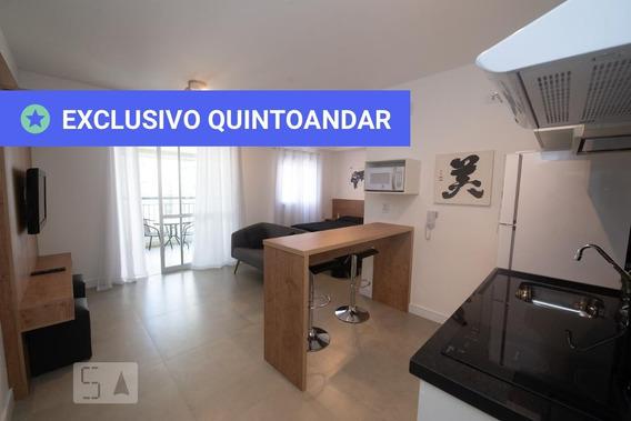 Studio No 9º Andar Mobiliado Com 1 Dormitório E 1 Garagem - Id: 892960316 - 260316