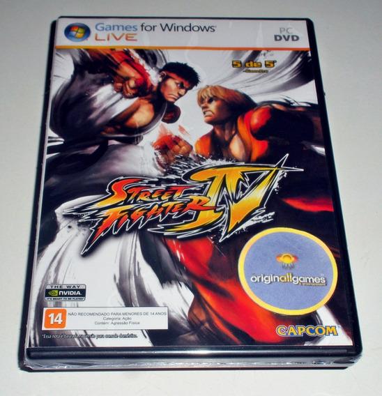 Street Fighter Iv ¦ Jogo Pc Original Lacrado ¦ Mídia Física
