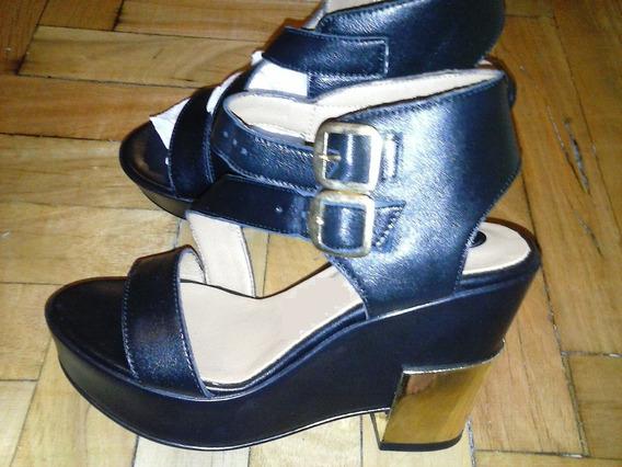 Zapatos De Cuero Via Uno