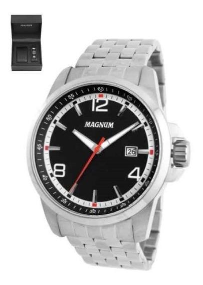Relógio De Luxo Masculino Magnum Social 10 Atm Ma34629c