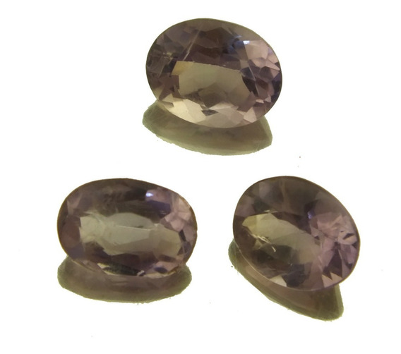 Oferta Trio Ametista Oval Pedra Preciosa Natural Joia J21549