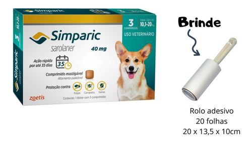 Simparic 40 Mg  Antipulgas Bulldog Francês  Para Cães 10 A 2