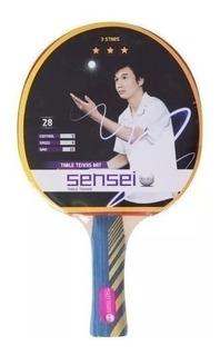 Paleta Ping Pong Tenis Mesa Sensei 3 Estrellas Plus Cuotas